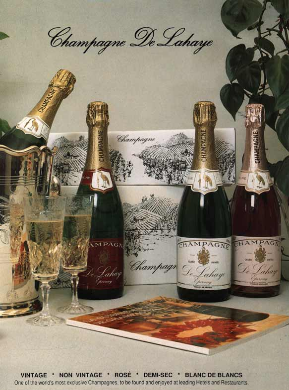 PICTURE: A selection of bottles from one of the World's most exclusive champagnes - Champagne De Lahaye